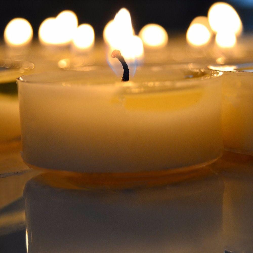 100% natürliche soja tee wachs. Unscented Soja Teelicht Klare Tasse Kerzen (13g), weiß-Set von 32
