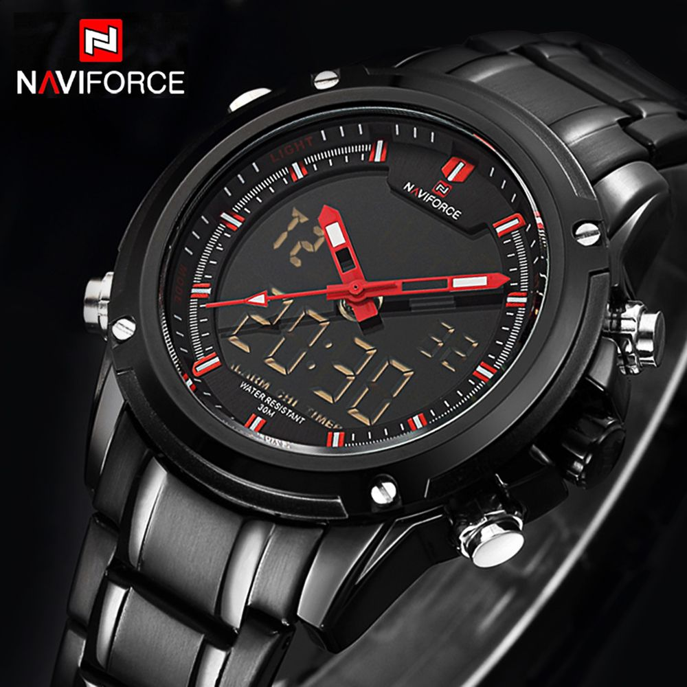 Top Luxury Brand <font><b>NAVIFORCE</b></font> Men Military Waterproof LED Sport Watches Men's Clock Male Wrist Watch relogio masculino 2017