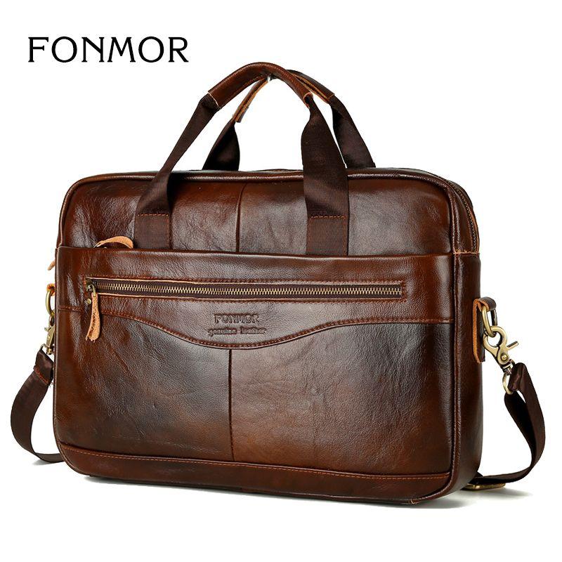 Oil wax Leather Men Bag Business Briefcase Handbags Men Crossbody Bags Men's Travel Laptop Shoulder Bag Messenger Tote Bags