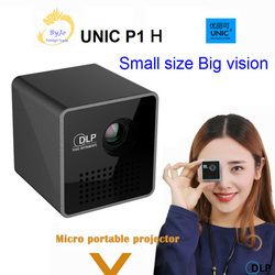 Original UNIC P1 H Mobile Projector P1H Pocket Home Movie Projector Proyector Beamer Mini DLP projector mini led projector