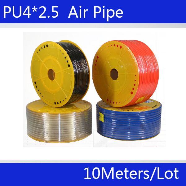 Livraison gratuite pièces pneumatiques 4mm PU tuyau 10 M/lot luchtslang tuyau d'air pour air pneumatique tuyau 4*2.5 compresseur tuyau