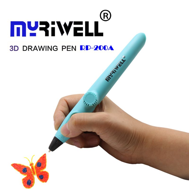 Myriwell RP-200A 3d pen low temperature printing pen using PCL material USB plug 3D painting pen children's gift toy 3D drawing