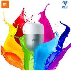 D'origine Xiaomi Yeelight Bleu II LED Smart Ampoule (couleur) E27 9 W 600 Lumens Mi Lumière Téléphone Intelligent WiFi À Distance En Gros de Contrôle