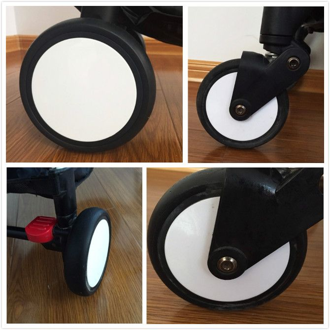 BABYYOYA Baby Strollers Front Wheels Pushchair Back Rubber Wheel Kids Yoya Pram Stroller Accessories For <font><b>Carriage</b></font> with tools