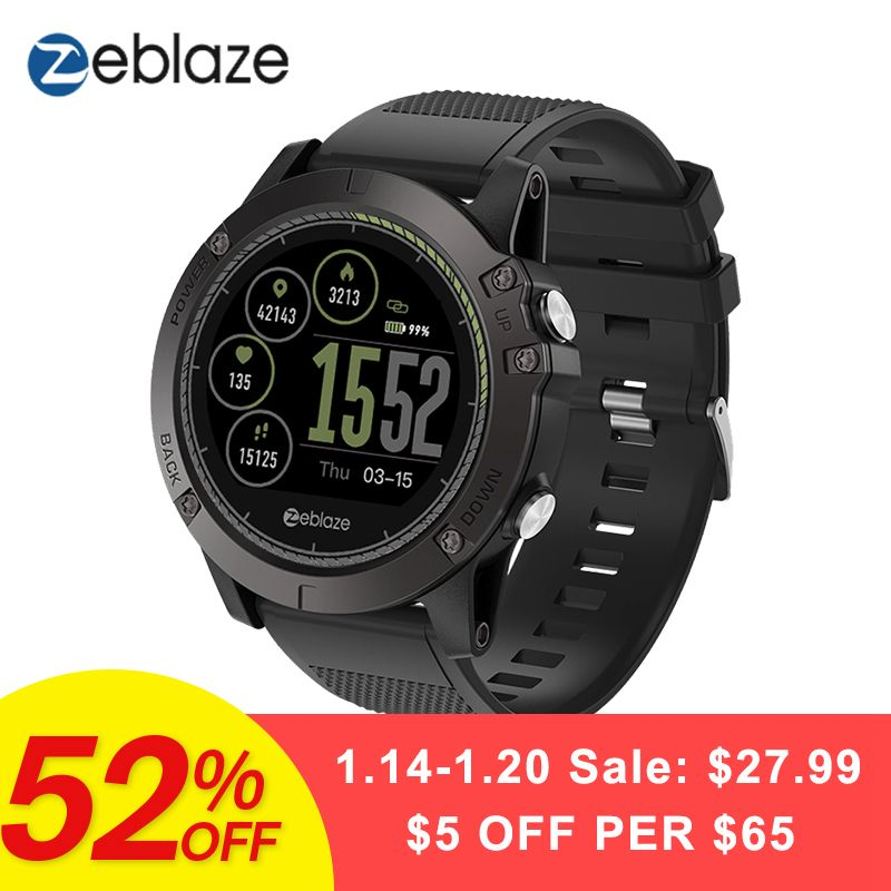 New Zeblaze VIBE 3 HR Smartwatch IP67 Waterproof Wearable Device Heart Rate Monitor IPS Color Display Sport Smart Watch