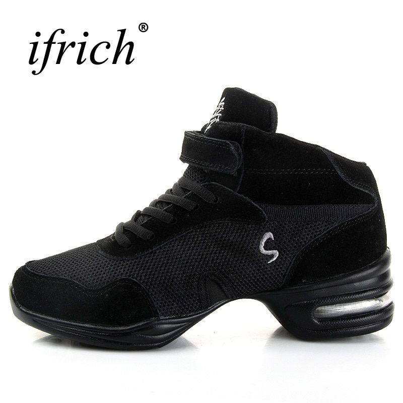 Ladies Dance Shoes Comfortable Ballroom Dancing Shoes For Girls Breathable Womens Dance Jazz Sneakers Black Jazz Dance