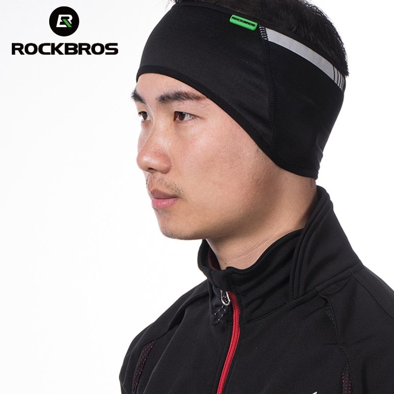 ROCKBROS Cycling Bike Outdoor Sports Headband Cap Hat Protector For Ear Winter Warm Fleece Bicycle Equipment Wear Tab Ear Warmer