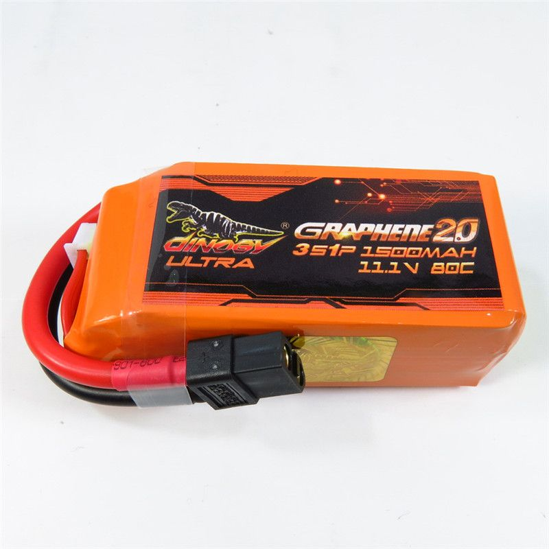 High Quality Giant Power DINOGY ULTRA GRAPHENE 2.0 11.1V 1500mAh 80C 3S Rechargeable Lipo Battery XT60 Plug For RC FPV Drone