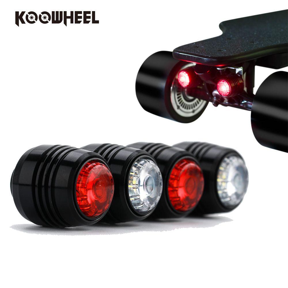 Koowheel Led-licht für 2nd Generation Kooboard D3M 4 rad Elektrisches skateboard Longboard Licht 4 teile/satz