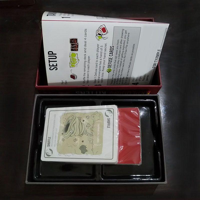 Jeux de société exploser jeu de cartes pour chaton édition originale avec boîte rouge NSFW édition avec boîte noire famille partie cartes jeu
