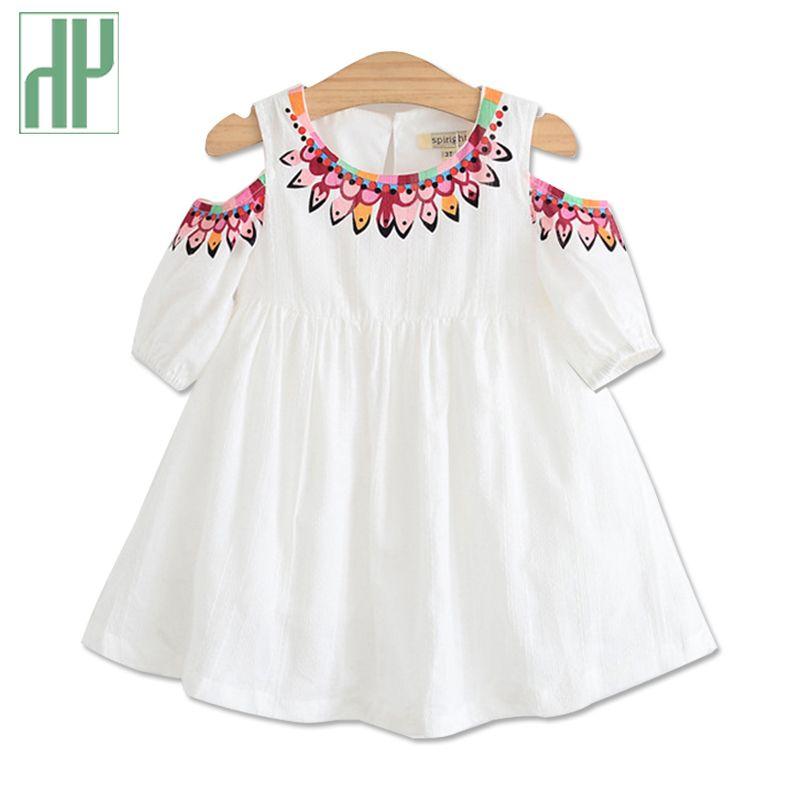 Vêtements d'enfants en bas âge Princesse fille d'été robe coréenne enfants portent impression floral filles robes enfants beach party robe costume