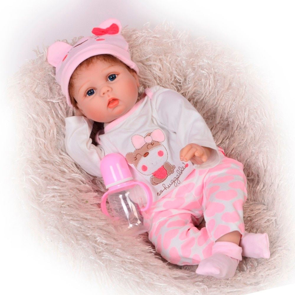 Classic Popular Realistic Rooted Mohair Newborn Doll 22