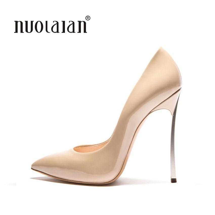 2018 Marque Chaussures Femme Haute Talons Femmes Pompes Stiletto Mince talon Femmes Chaussures Bout Pointu Talons hauts Chaussures De Mariage de taille 35-42