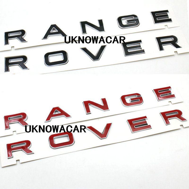 High Quality New Black Red 3D Hood front badge Letter emblem Sticker Decal Logo badge For Range rover