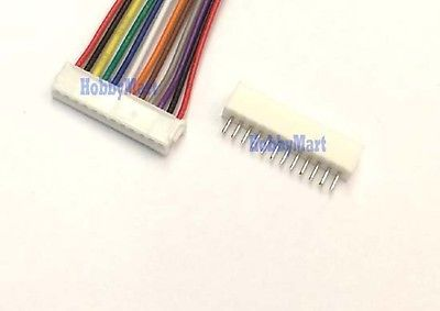 Micro ZH 1.5mm 12-Pin Female Connector with Wire and Male Connector x 10 sets