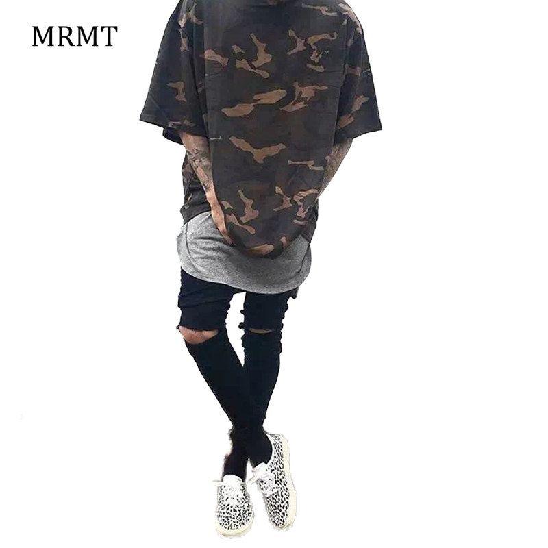 2019 Camo Tee Hip Hop mode hommes T-Shirt militaire Camouflage hommes à manches courtes o-cou ouest T-Shirt pour les S-XXXL de vêtements de rue