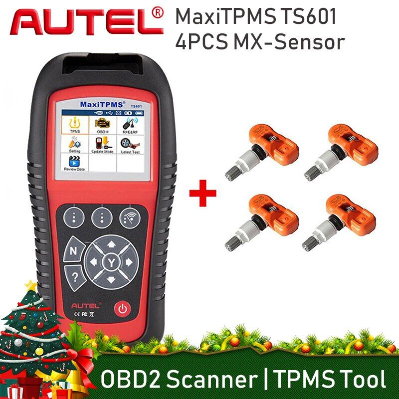 AUTEL MaxiTPMS TS601 TPMS Tire Pressure Activator Complete TPMS Activation Programming Tool Tire Monitoring System Scanner Tools