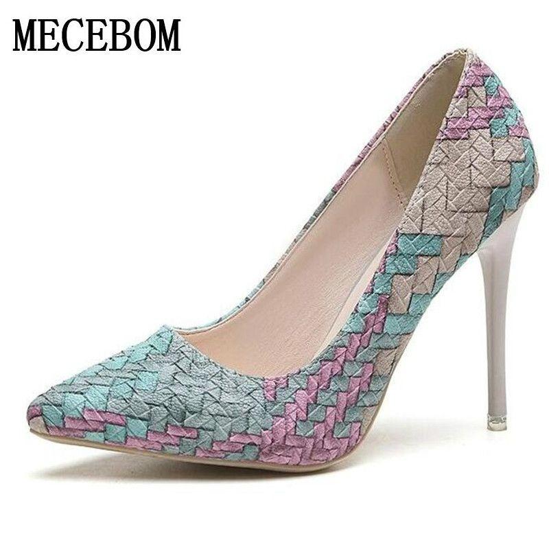 Zapatos de Mujer 2017 Tacones Altos Señoras Bombas Sexy zapatos de la boda plataforma Calzado bombas bottom chaussure sapato feminino 618 W