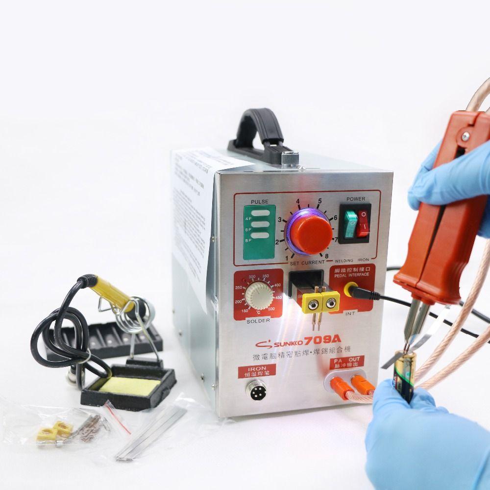 SUNKKO 709A Battery Spot Welder Pulse Welder for <font><b>18650</b></font> Battery Pack Soldering Machine 110V