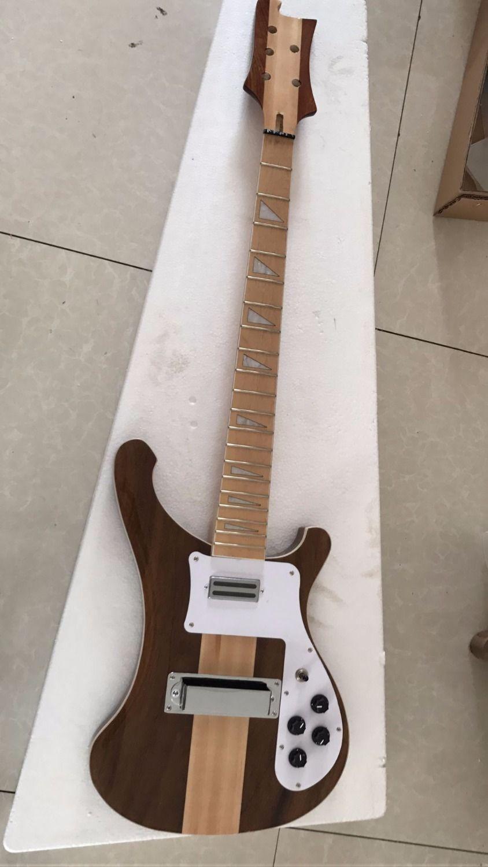Großhandel Neue Ankunft Unfinished Rick.5 string 4003 e-bass Through Neck In Braun Natürliche 170429
