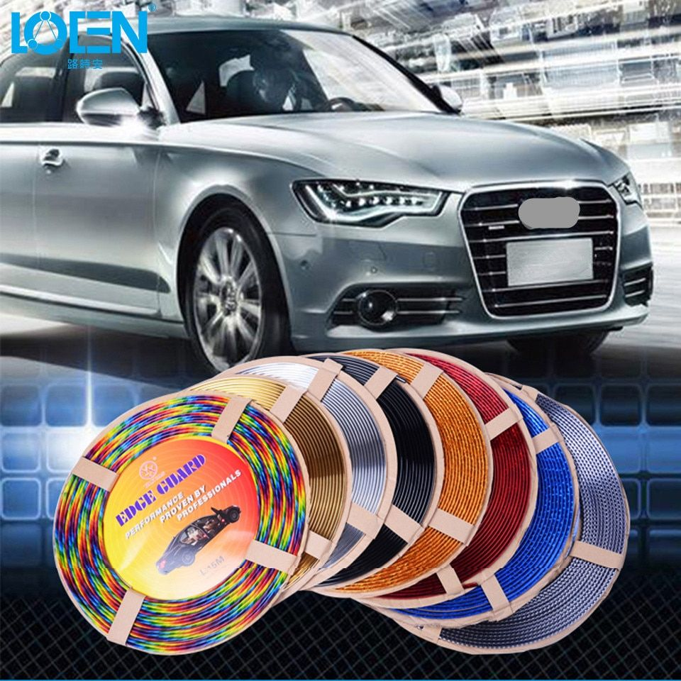 13M U Style voiture Chrome corps bande Auto porte protection moulage Style garniture autocollant décalcomanie climatisation sortie lame Tuyeres