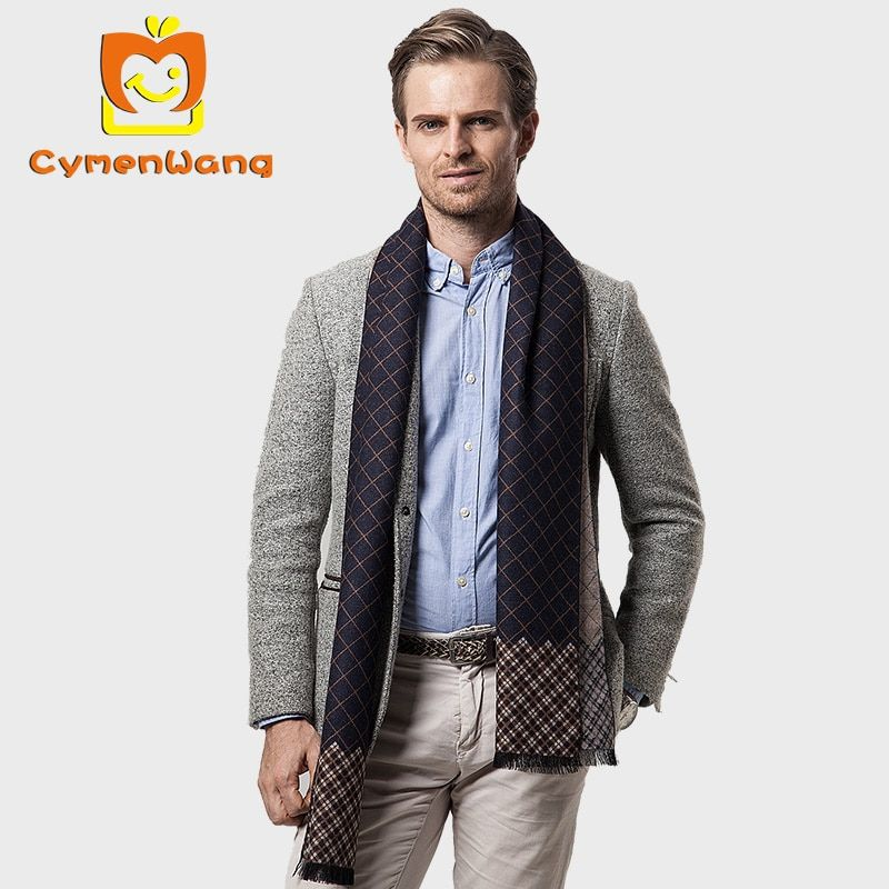 Cymenwang 2017 Designer Arrival Winter Scarves For Men Business Long Scarf Warm Cashmere Luxury Brand Casual Male Scarf