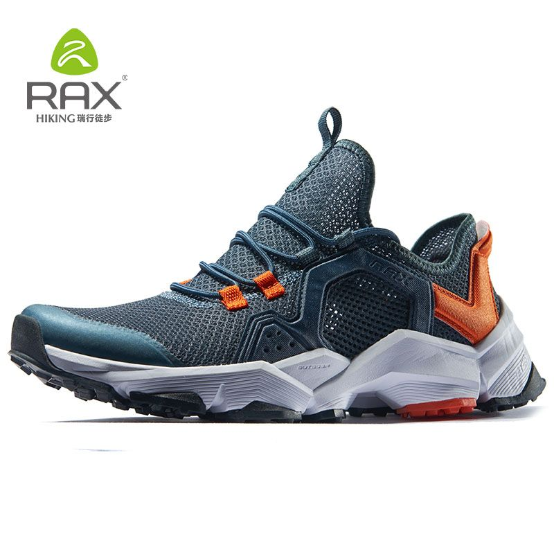RAX Running Shoes Men&Women Outdoor Sport Shoes Breathable Lightweight Sneakers Air Mesh <font><b>Upper</b></font> Anti-slip Natural Rubber Outsole