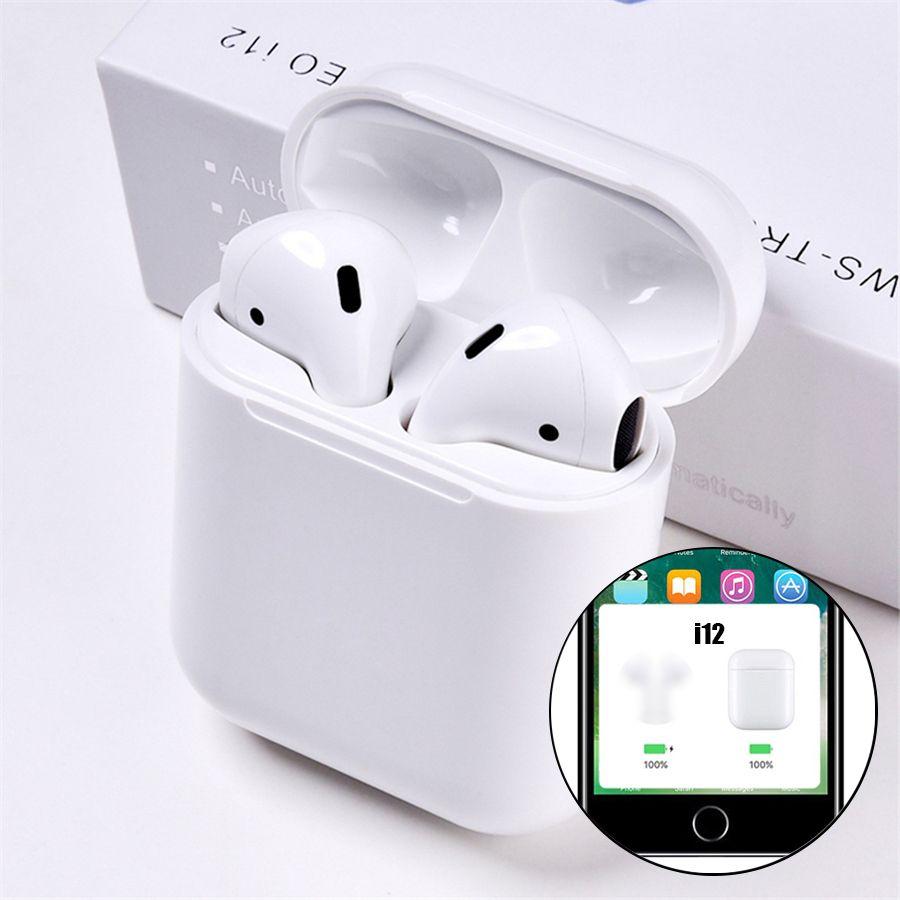 i12 tws Pop Up Bluetooth Earphones Wireless Touch Control Earbuds Headset i12tws not 1:1 replica i30 tws i20 i10 i30tws lk-te9