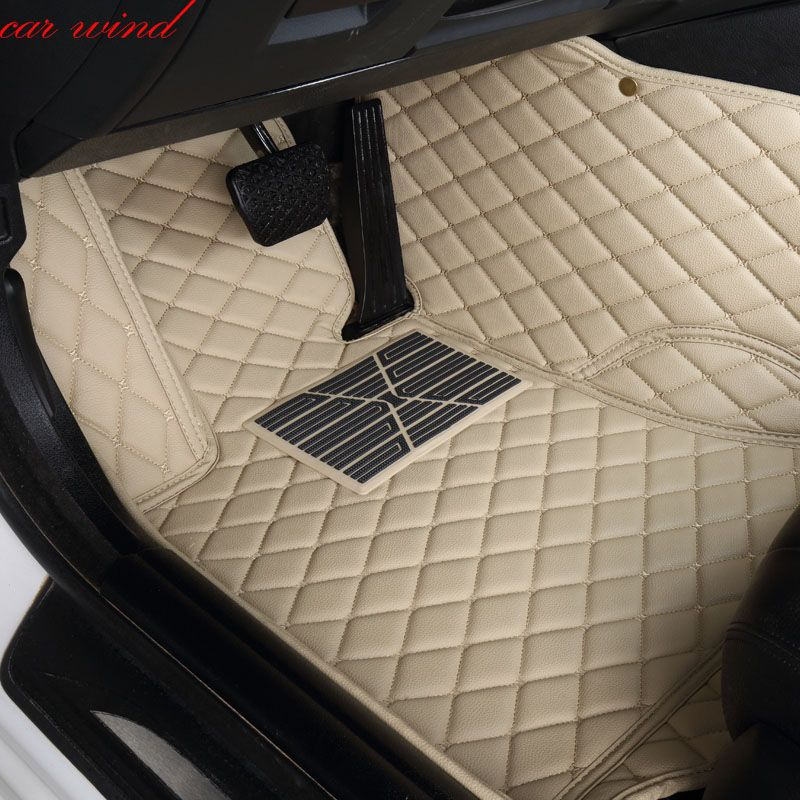 Car Wind Leather Auto car floor Foot mat For toyota camry 2007 2008 2009 corolla 2011 land cruiser prado 120 prius accessories