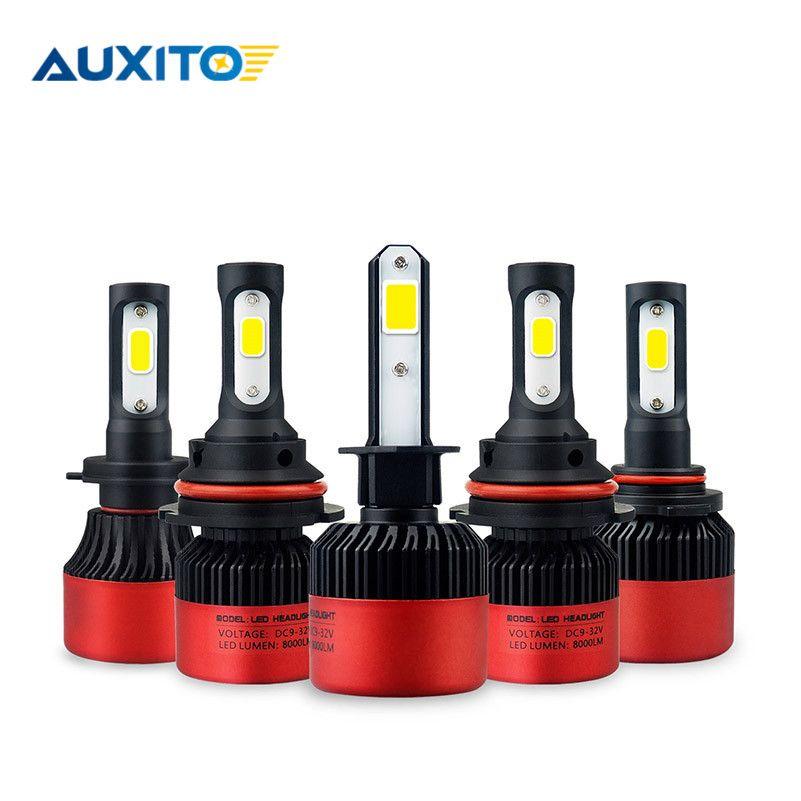 2pcs LED H11 H8 H7 9005 9006 HB4 Car LED Headlight Hi-Lo Beam 12V COB Auto Car Fog Light Bulbs <font><b>6500K</b></font> White LED Lamp 16000LM