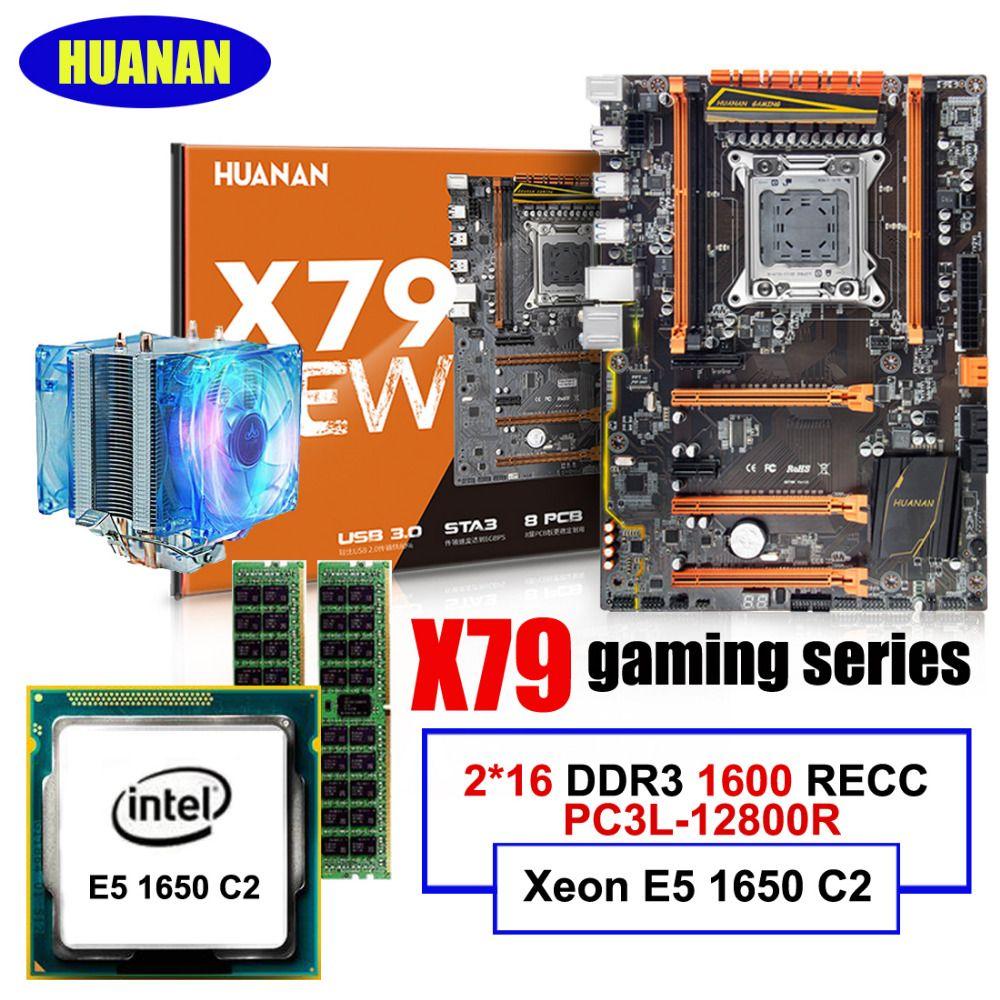 HUANAN ZHI deluxe X79 LGA2011 motherboard mit M.2 slot CPU Intel Xeon E5 1650 C2 3,2 GHz RAM 32G (2*16G) DDR3 1600 MHz RECC