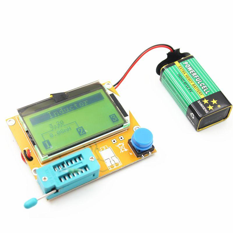 2016 V2.68 ESR-T4 Mega328 Digital Transistor Tester Diode Triode Capacitance ESR Meter MOS/PNP/NPN LCR 12864 LCD screen