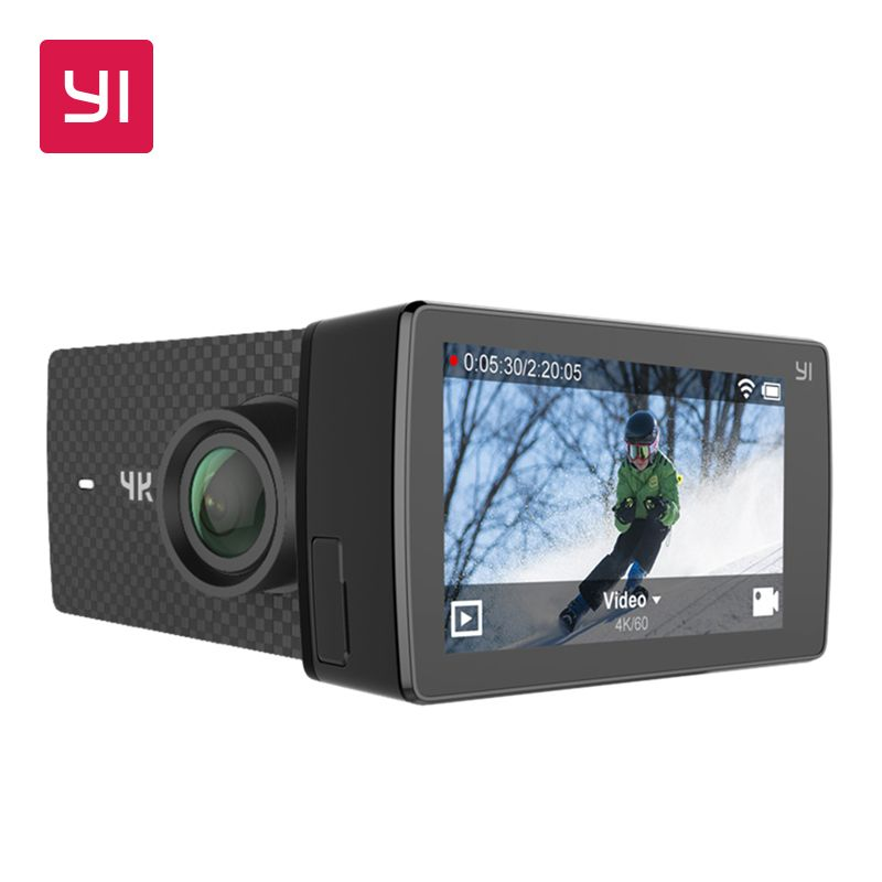 YI 4 Karat + (Plus) Action Kamera Set Internationale Ausgabe ERSTE 4 Karat/60fps Amba H2 SOC Cortex-a53-prozessor IMX377 12MP CMOS 2,2