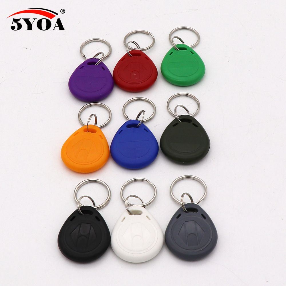 10pcs EM4305 T5577 Duplicator Copy 125khz RFID Tag Access Control Porta Chave Card Sticker Key Fob Token Ring Proximity