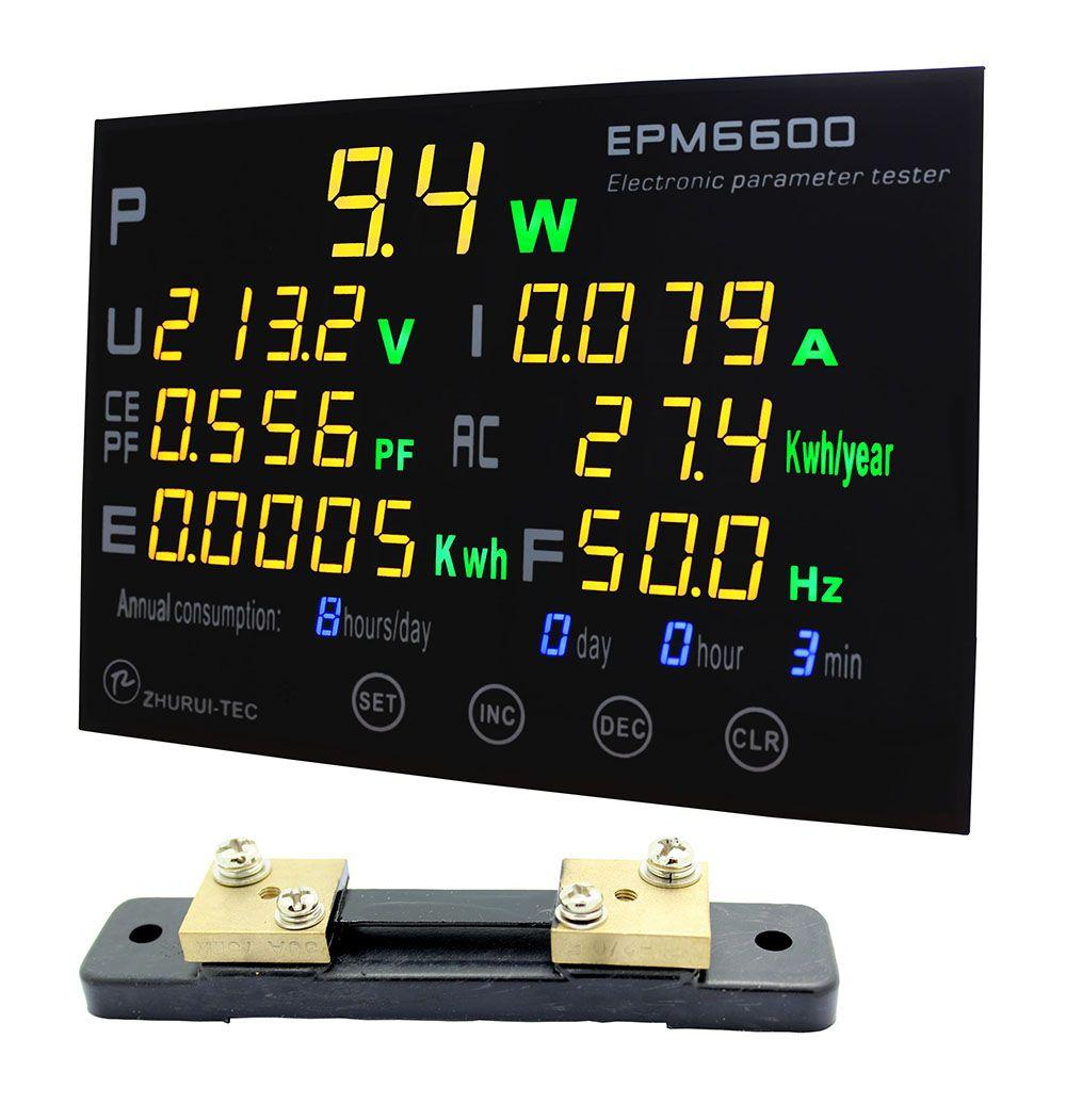 EPM6600/50A/10kw/multifonction wattmètre moniteur unique fase AC électrique meterenergy mètre/kwh mètre