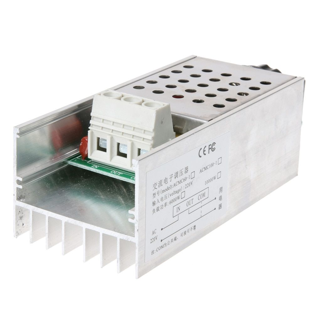 Professional SCR Voltage Regulator 10000W High Power Electronic Voltage Regulator Speed Controller For Dimming Speed Thermostat