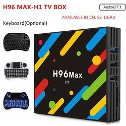 H96 MAX-H1 Android 7,1 TV Box 4 GB RAM 32 GB ROM Set Top Box RK3328 2,4g /5G Wifi Bluetooth 4,0 4 K H.265 Media Player pk h96 pro
