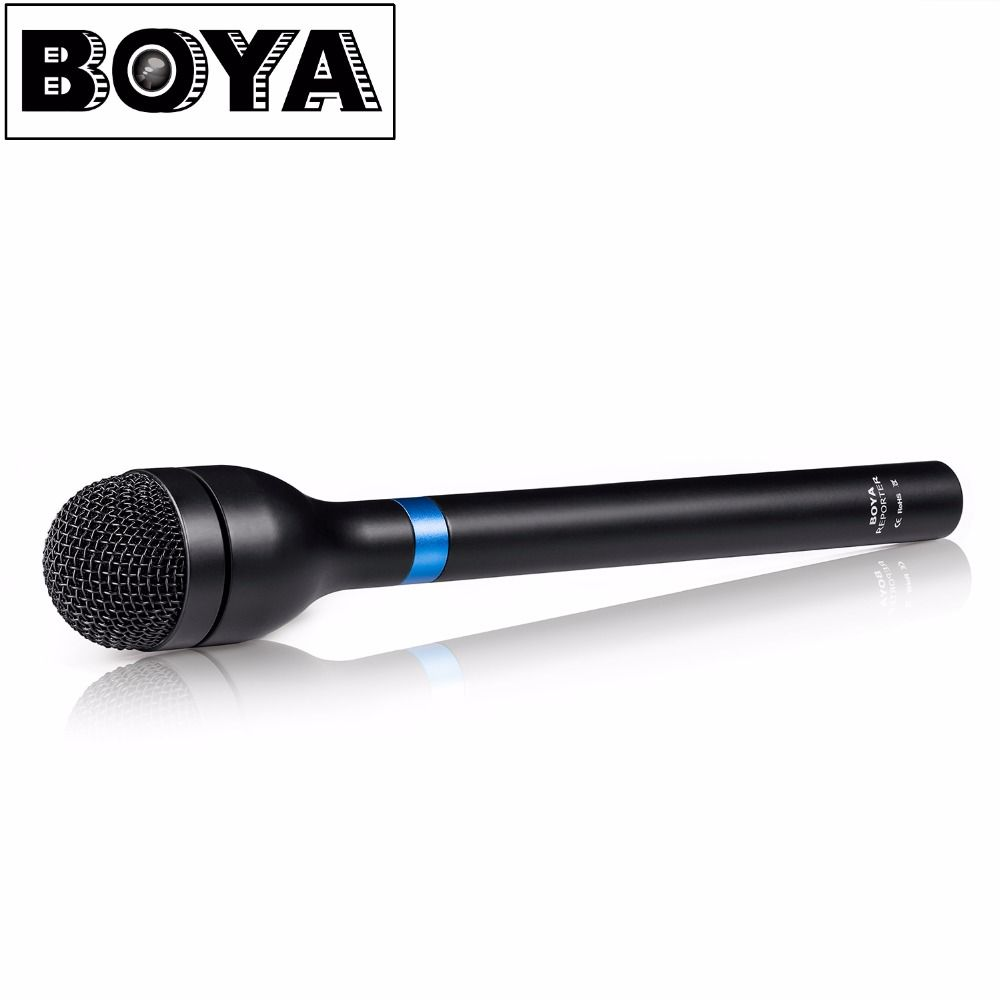 BOYA BY-HM100 Handheld Dynamic Microphone Mic Omni-Directional XLR Connector Aluminum Alloy Body Extra Long Handle
