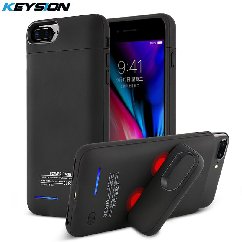KEYSION 3000/4200mAh Portable Charging Case For iphone 8 7 6s Plus Battery Power Bank Battery Charger Case Cover for i8 7 6 8P