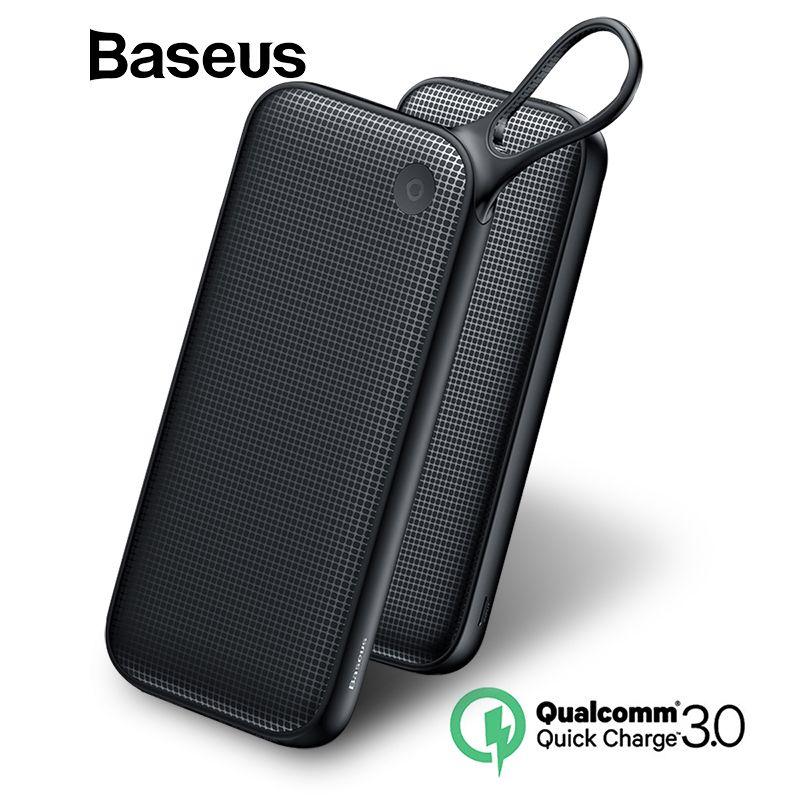 Baseus 20000 mAh batterie externe Pour iPhone Xs Max XR 8 7 Samsung S9 USB PD Rapide De Charge + Double QC3.0 rapide banque d'alimentation de chargeur MacBook