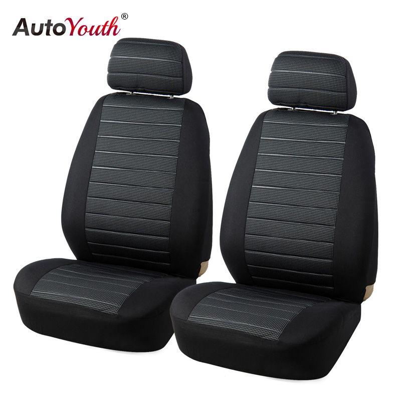 Autoyouth спереди автомобиля Чехлы для сидений мотоциклов водителя совместимый универсальный подходит для большинства автомобилей внедорожни...