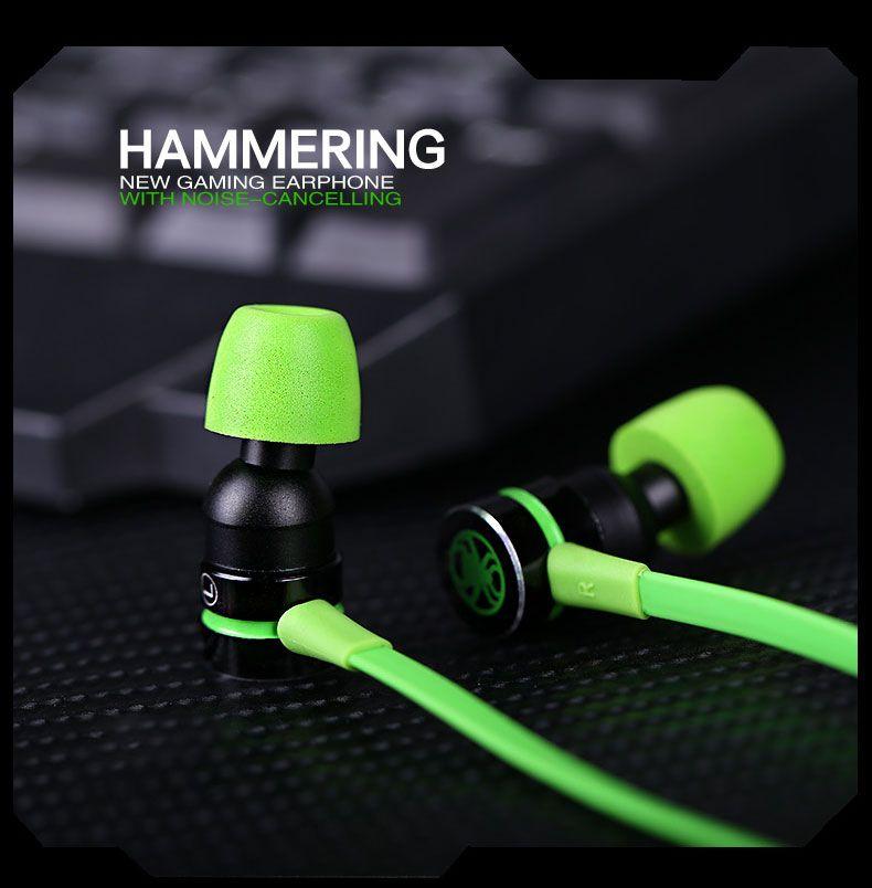 Tebaurry Magnétique Écouteur Avec Microphone Dans l'oreille Gaming Casques Antibruit Stéréo Deep Bass pk hammerhead pro v2