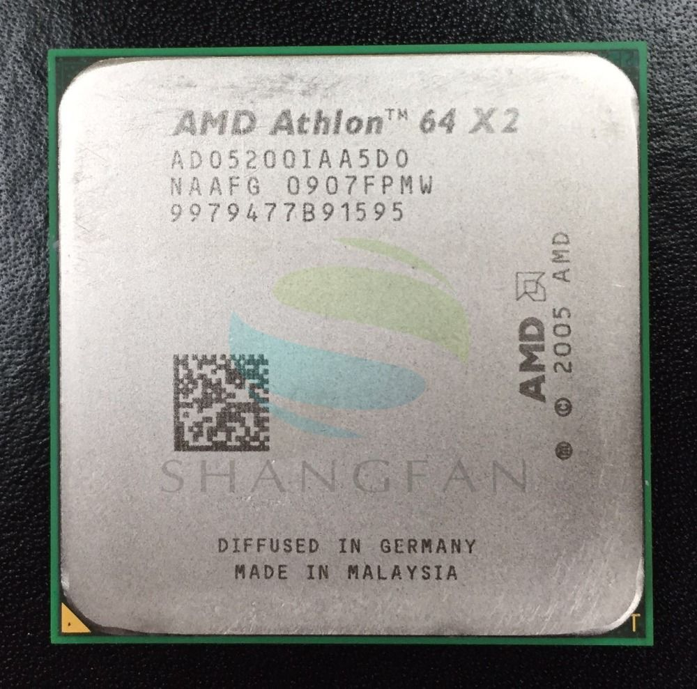 AMD Athlon X2 5200+ 2.7GHz Dual-Core CPU ADO5200IAA5DO ADO5200IAA5DU ADO5200IAA5DD Processor Socket AM2 940pin