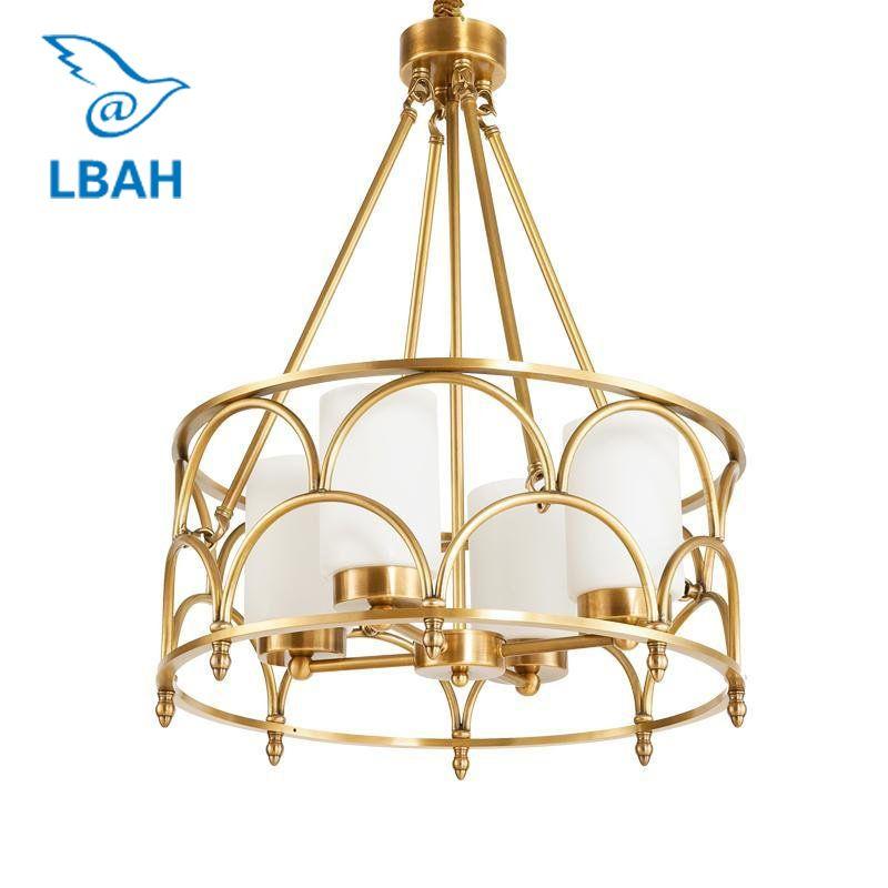 Zeitgenössischen Amerikanischen kreative voll kupfer lampe glas designer beispiel zimmer wohnzimmer schlafzimmer kronleuchter