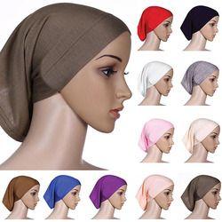 Nueva llegada musulmanes islámicos de la bufanda algodón underscarf hijab cubierta cabeza capó 76N6