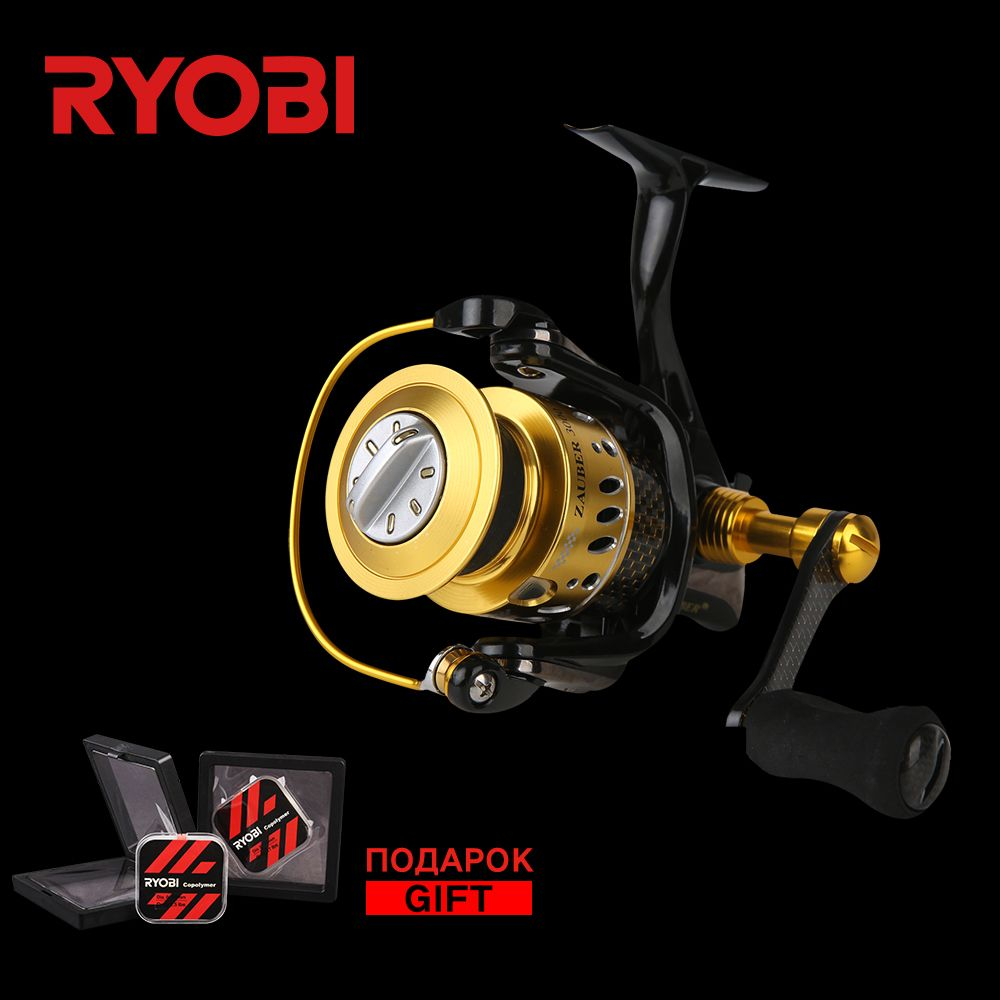 RYOBI ZAUBER CF 3000 Metal Body Wheel Carbon Handle Flat EVA Knob 10 Bearings Aluminium Spool 5.0:1 Speed Spinning Fishing Reel