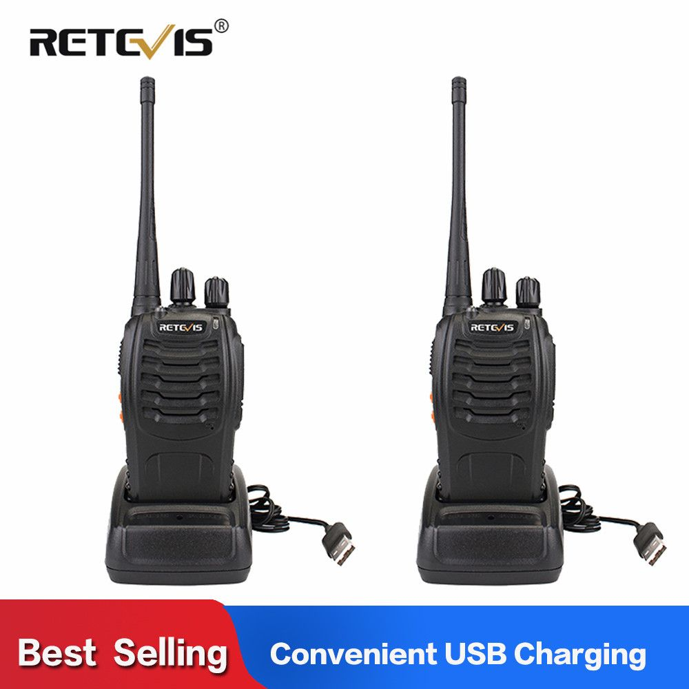 2pcs Retevis H777 Phone Walkie Talkie Radio 3W UHF Radio Station 400-470MHz Handheld Transceiver 2 Way Radio PortableUSB Charger