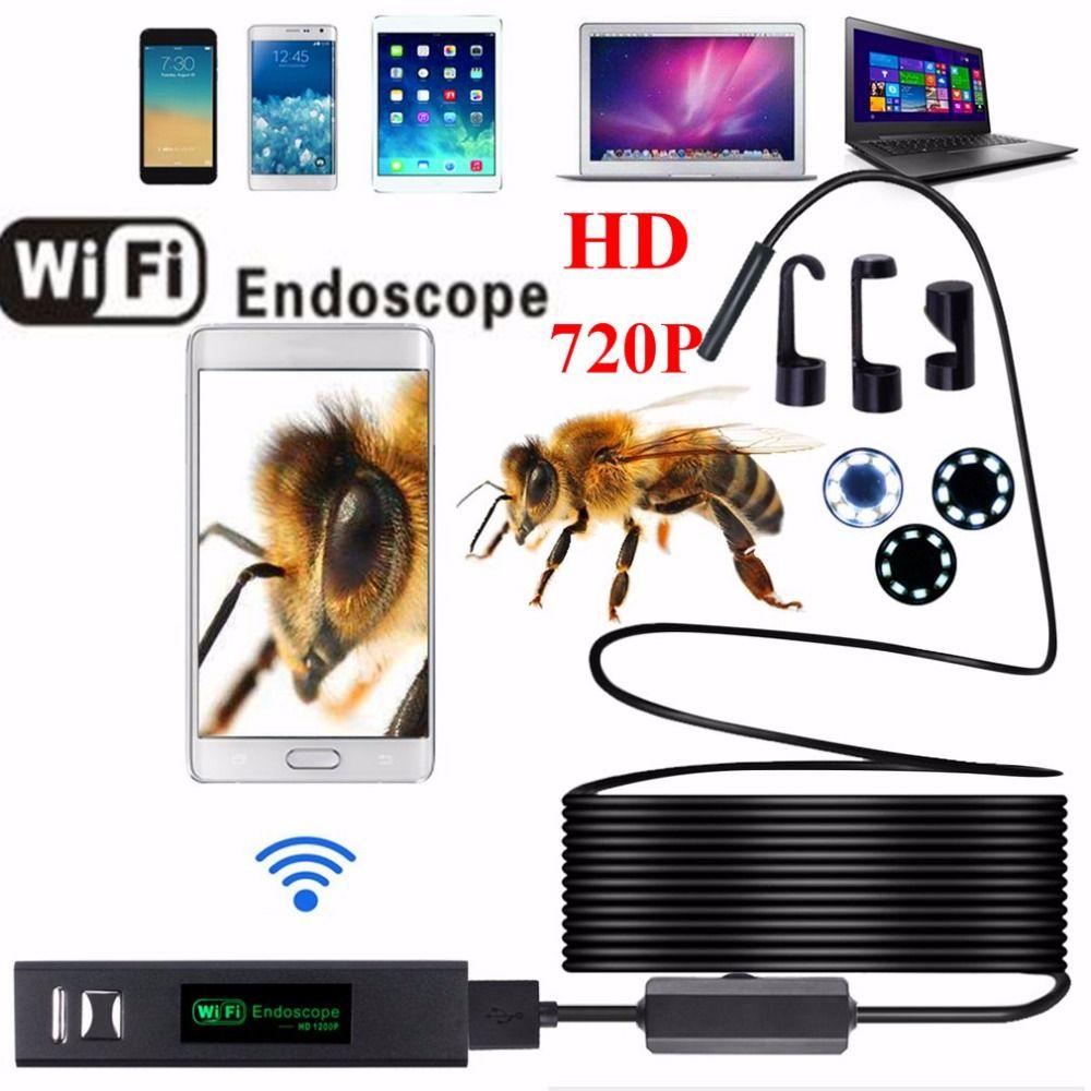HD 720 P 8 мм объектив WI-FI эндоскопа Камера 1 м 2 м 3.5 м 5 м 10 м с 8 светодиодов Водонепроницаемый IP68 IOS IPhone эндоскопа Android автомобиль эндоскоп