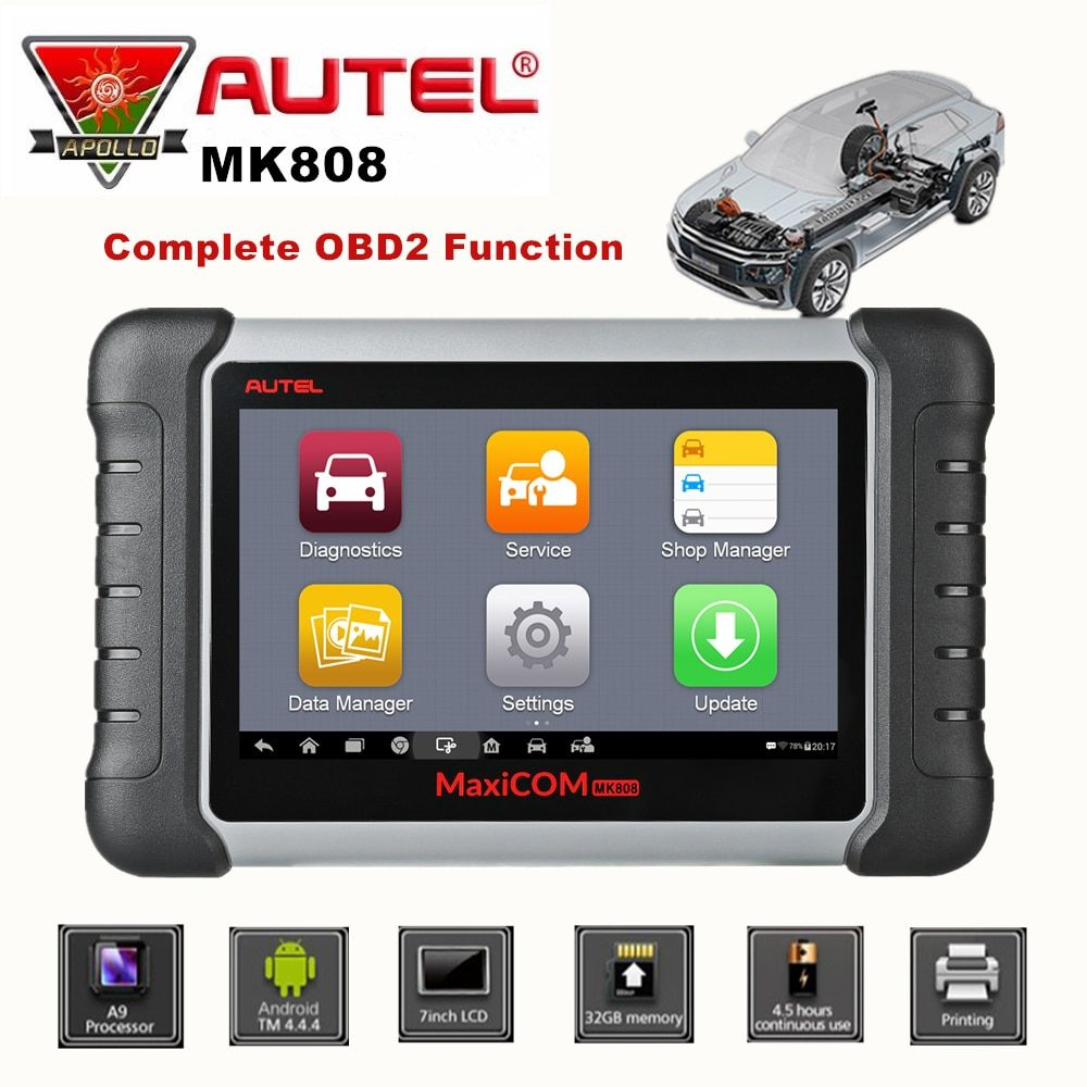 Autel MaxiCom MK808 Auto OBD2 Diagnostic Tool Car Scanner Engine Analysis Tool All System Oil Reset EPB DPF TPMS Key Programmer