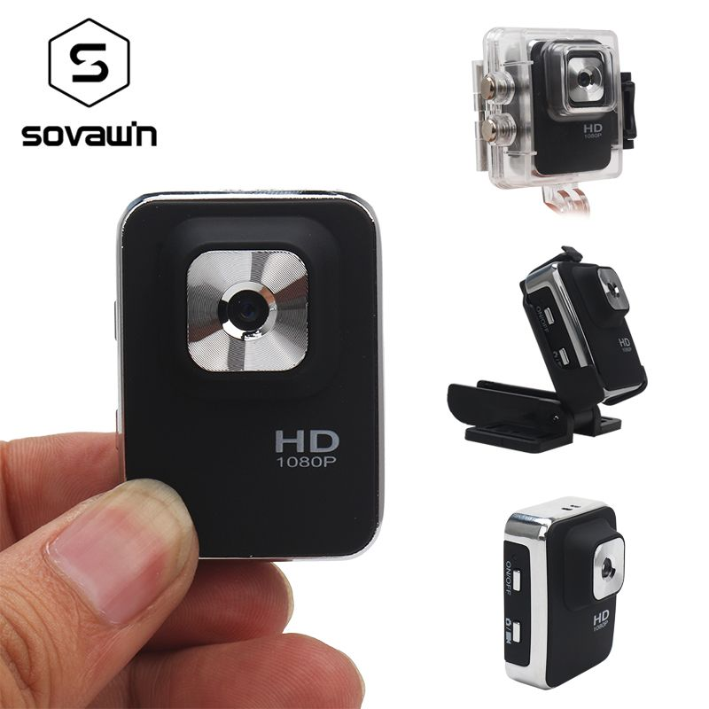 Sovawin Mini Camera CMOS Night Vision Mini Camera 1080p Full HD Video Recorder Portable DVR 12mp Sport Waterproof Wide <font><b>Angle</b></font>